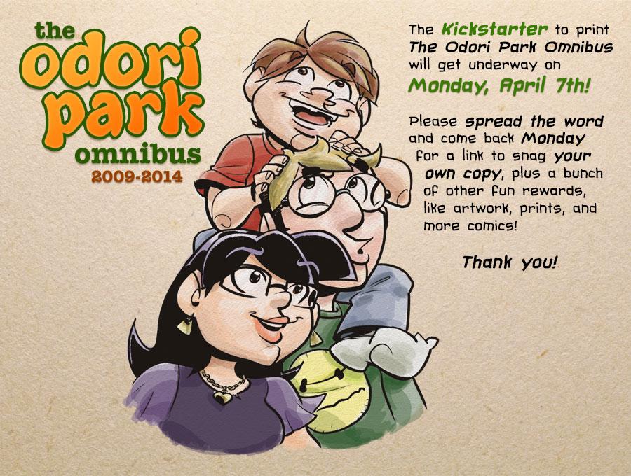 Odori Park by Chris Watkins: Omnibus Kickstarter Launches April 7