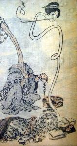 Rokurokubi, by Hokusai